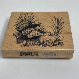 "Inkadinkado Rubber Stamp TURKEY~ THANKSGIVING~ FALL~ HARVEST 4"" x 3 1/2"" New"