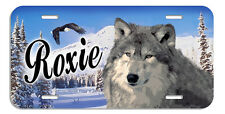 Wolf And Eagle In Winter Setting Personalize Gifts Any Text Any Color Wolves