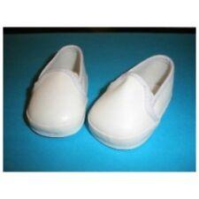 chaussures blanche 7,5cm pour poupée ancienne ou moderne ou autre doll shoes