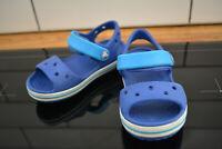Crocs Crocband 12856 Kids Cerulean Blue Ocean Clog Sandal UK 7 EUR 24 £25 new