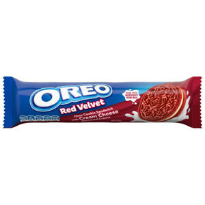 OREO COOKIE RED VELVET 133g BISCUITS SNACK CREAM CHEESE FLAVOURED FILLING TREATS