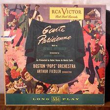 Arthur Fiedler Gaite Parisienne Offenbach LP RCA red seal 1950's VG