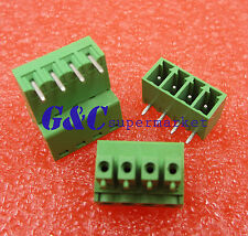10PCS 4pin Screw PCB Terminal Block Connector 3.81mm Pitch Pluggable Type