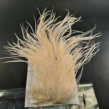 White Cream Rooster Saddle Hackle Long Thin Dry Fly Tying Hair Feathers #1