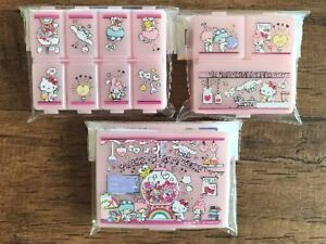 Sanrio Caracters Hello Kitty My Melody  Pill Case Organizer Cosmetic Accessories