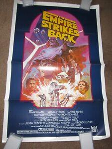 ORIGINAL > EMPIRE STRIKES BACK movie poster 27x41  1982 star wars
