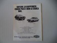 advertising Pubblicità 1980 DATSUN 120 Y/N 10