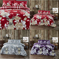 Thermal Flannel/Flannelette Duvet Cover Sets Brushed Cotton Warm Soft Bedding