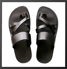 Biblical Jesus Black Sandals For Men Strap Flip Flop US 5-16