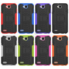 Hybrid Rugged Armor Shockproof Hard Case Kickstand Cover For LG series Phones