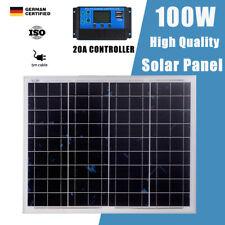 100W Watt Monocrystalline Solar Panel kit 12V Off Grid Generator 20A Controller