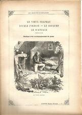 """Partition """"Les Chansons de Béranger"""" N°6 Lire détails sur la photo.8 pages.RARE+"""