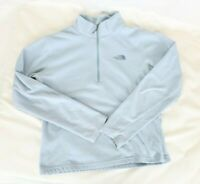 The North Face Girls Fleece Pullover Sweater Large Light Blue 1/2 Zip Jacket