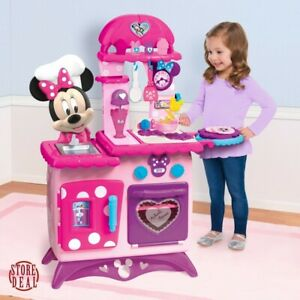 Mini Mouse Toy Play Kitchen Flipping Fun Play With Accessories Pretend Play New