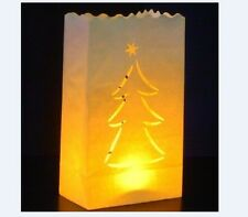 10 X'mas tree Candle Paper Bag Lantern Garden Party Outdoor Luminaries gbm