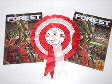 More details for nottingham forest 1980 european champions cup final rosette + programmes  (sk25)