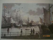 Hamburg - historische Ansicht: Hafen mit Blockhaus, Hardorff um 1840