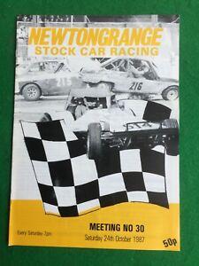 Stock car racing programme Newtongrange 24th October 1987