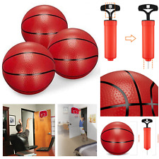 3 Piece Toddlers Mini Basketball Rubber Toy 6.29 Inches Dark Red Inflatable