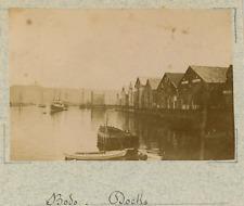 Norvège, Bodø, vue sur les docks  vintage albumen print,Photos provenant d&#03
