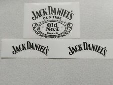 3PCS-JACK DANIELS-CLEAR GLOSS STICKERS-(2-PCS 100mm x 35mm-1PCS 100mm x 60mm)