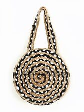 Indian Jute Hand Braided Bag Woven Handbag Wide Space Storage Cross Body Bag