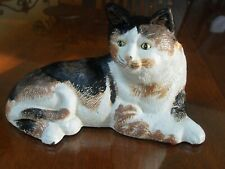 New listing Cat Doorstop Cast Iron Hand Painted
