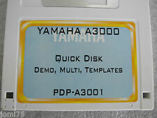 YAMAHA A-3000 Factory floppy disks DEMOS Multi Templates A4000 A5000 DPD-A3001