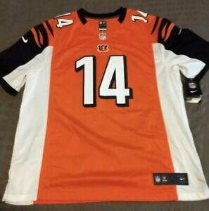 Nike Cincinnati Bengals Andy Dalton #14 Black Orange Game Women's Jersey XXL