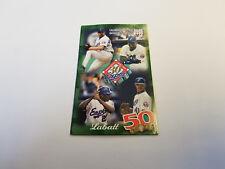 Montreal Expos 1998 MLB Baseball Pocket Schedule - Labatt 50