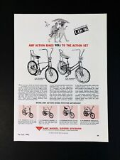 Vintage 1966 AMF Action Bikes Roadmaster Bicycle Full Page Original Ad