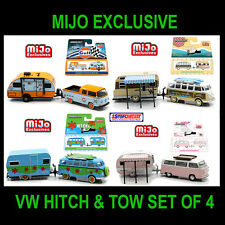 GREENLIGHT HITCH & TOW VOLKSWAGEN M&J MIJO EXCLUSIVE SET OF 4 - PRE ORDER
