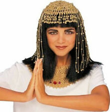Cleopatra Headpiece Gold Beaded Beads Egyptian Halloween Adult Costume Accessory