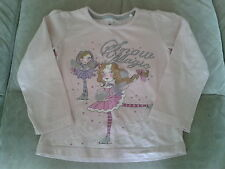 Girls 4 Years - Pink Long Sleeved Top, Sparkly Ice Skating Motif - 'Snow Magic'
