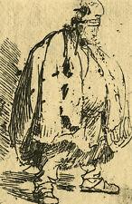 Rembrandt van Rijn Portrait d'un Mendiant - Gravure ancienne 1881