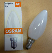OSRAM BOMBILLA VELA BELLALUX SOFT SOFTONE BLANCO Ópalo 40w E14 Lámpara de velas