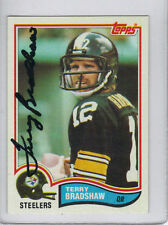 Terry Bradshaw Pittsburgh Steelers Signed 82 Topps PSA Superbowl MVP Quarterback