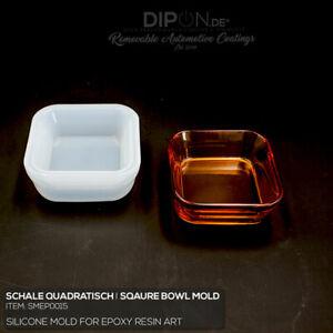 Epoxidharz Silikonform Schale Quadratisch Gußform Epoxy Resin Art Silicone Mold