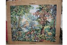 canevas neuf 150cmx120cm frondaison création originale Margot loisirs creatif