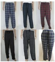 Mens 100% Cotton Pyjamas Flannel Check Lounge Pants Bottoms ChapsPJ Loungewear 5