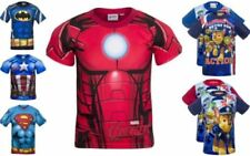 Polyester Short Sleeve Graphic T-Shirts, Tops & Shirts (2-16 Years) for Boys