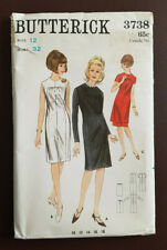 104ec6fef B-3738 de colección años 60 Vestido Falda Túnica Patrón De Costura  Butterick Busto 32 Completo Raro