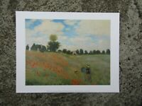 Vintage print - Wild Poppies - Caude monet - For framing - classic art