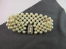 fein geflochtenes Perlarmband,Zuchtperlen 6 mm, Silberschließe moderne Arbeit!