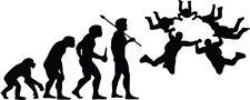"SKYDIVING EVOLUTION Vinyl Decal Sticker-6"" Wide White Color"