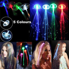 Fiber Optic Hair LED Lights Birthday Party Gift Bags Christmas Costume Clips New