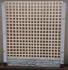 6ft x 6ft Square Top Privacy Trellis Lattice Fence Panels RAW RRP £55