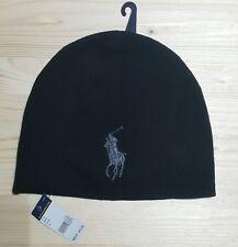 Ralph Lauren Big Pony Merino Wool Hat, 100% Genuine