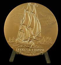 Médaille vaisseau de ligne de 74 canons Droits de l'homme 1794-1797, ship medal
