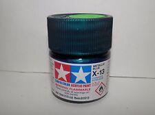 Tamiya Color Acrylic Paint Mini Metallic Blue #X-13 (10ml) NEW